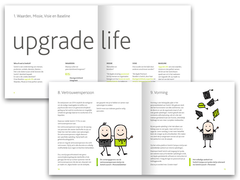 Welcome brochure and images for new employees <br/>at Switch [your Apple store]