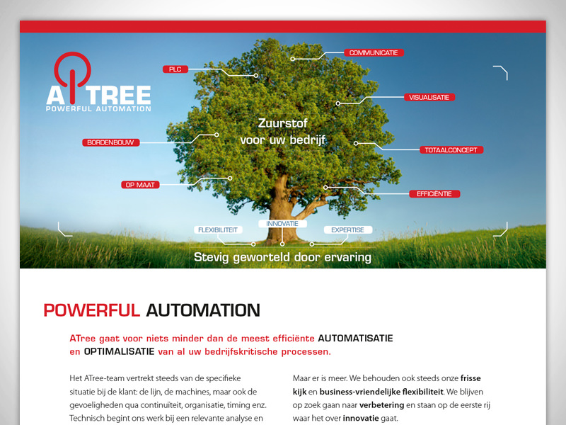 Atree, automation company: Flyer to fold and send with their invoices.