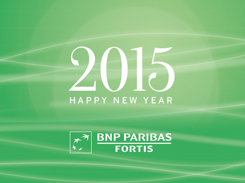 BNP Paribas Fortis: New Year cards in 49 variations