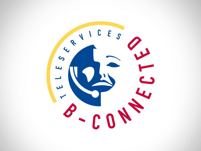 Logo and stationary for B-Connected [call center]
