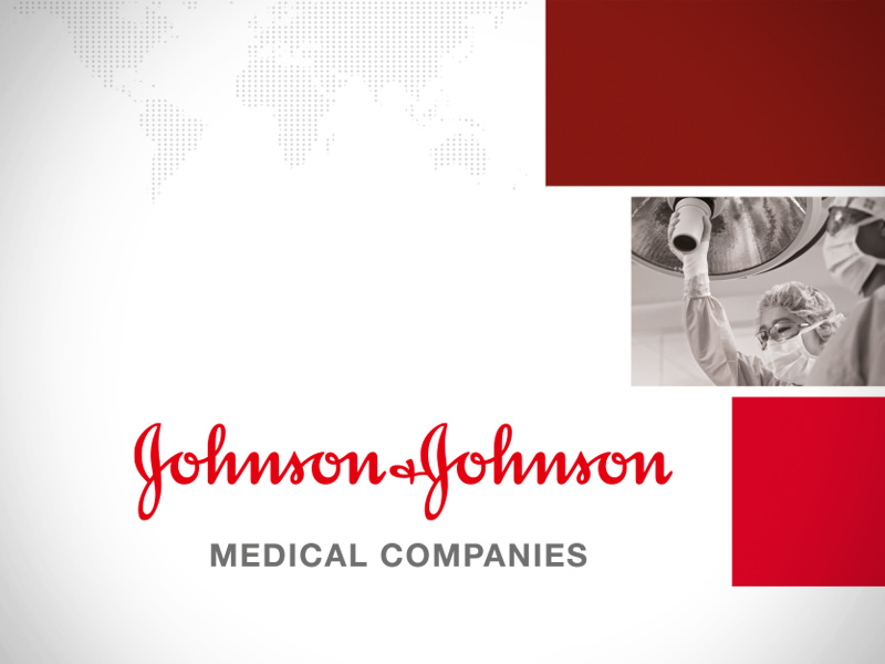 Johnson&Johnson: Roll up banner and invitation for an event.