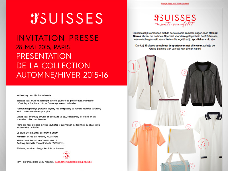 Html e-mail campaigns for 3Suisses [for Gloribox]