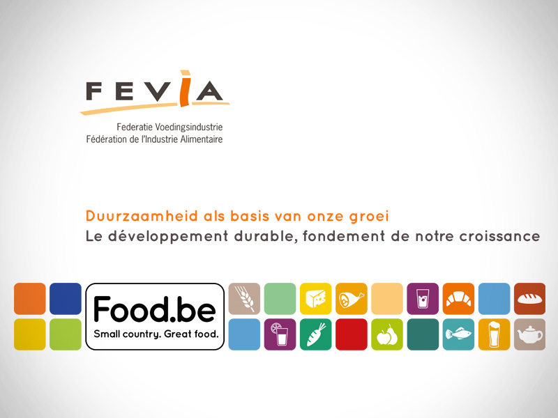 Presentation for a press conference for Fevia | food.be : the federation of the food industry